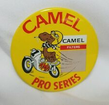 1970's AMA CAMEL PRO SERIES Motorcycle Racing Pin Back button CIGARETTES Mint!