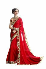 Bollywood Saree Party Wear Indian Pakistani Ethnic Wedding Designer Sari
