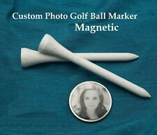 Custom Personalized Photo Picture Logo Golf Ball Marker For Magnetic Hat Clip