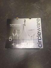 5 Pezzi Symphony Bicchieri da Vino e Bottiglia Si Ospita Set