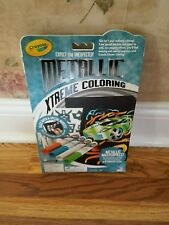 Crayola Metallic Xtreme Coloring Pages + 4 Markers-BRAND NEW IN BOX