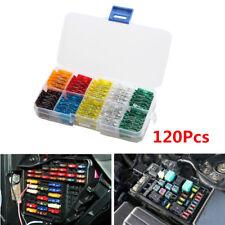 120pc Auto Car Mini Standard Blade Fuse 7.5 10 15 20 25 30 Amp ATM APM Fuses Set