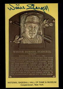HALL OF FAME POSTCARD WILLIE STARGELL ON CARD AUTOGRAPH SIGNATURE AX1580