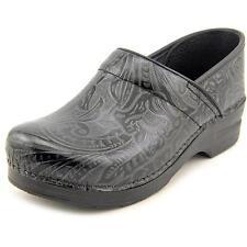 Womens Dansko Professional Black Tooled Leather Pro Clogs 906020202 Size 37