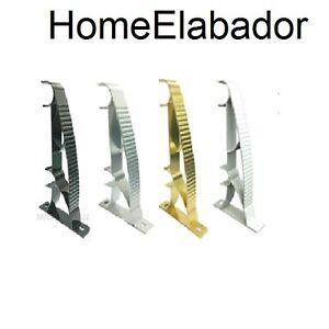 Curtain Pole Bracket Double Rod Holder Heavy Duty Metal(2 pieces) Durable S hook