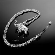 CHUNKY HEAVY ELEPHANT PENDANT NECKLACE WITH GIFTBOX