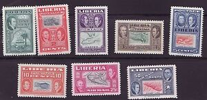 Liberia # 332-37 C68-69 MNH Complete Map