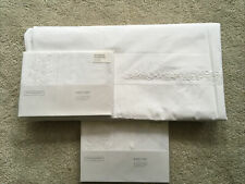 The White Company Adeline Hand Embroidered King Size Duvet & 2 Housewife P/Cases