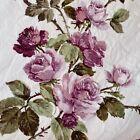 Vintage Sanderson Romantic Purple Rose Chic Floral Cotton Fabric 50cm x 80cm 40s