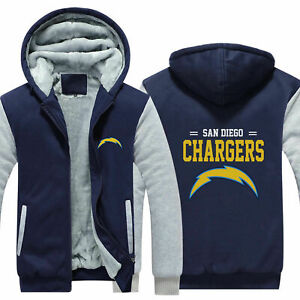 San Diego Chargers Sweater Thicken Hoodie Unisex Jacket Winter Coat