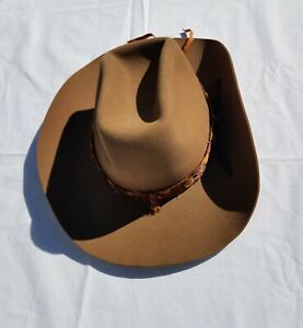 """Eddy Bros California """"BullRider"""" Barb Ranch Cowboy Hat Size 7 3/8 wpl 5923"""