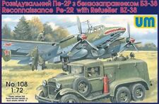 Unimodel 1/72 Petlyakov Pe-2R Reconnaissance with Refueller BZ-38 # 108