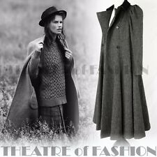 VINTAGE LAURA ASHLEY COAT TWEED VELVET VICTORIAN 40s 8 10 12 RIDING 50s 30s RARE