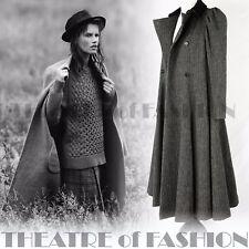 Vintage Laura Ashley manteau tweed Velours Victorien 40 S 8 10 12 équitation 50 S 30 S RARE