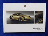 Porsche Exclusive 911 Carrera Turbo GT3 - Hardcover Prospekt Brochure 09.2013