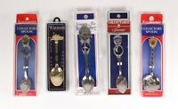 Lot of 5 Collectible Souvenir Spoons Pittsburgh Cape Cod New Orleans Kentucky NY
