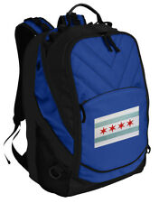Chicago Flag Backpack Laptop Bags Computer Backpacks TOP QUALITY!