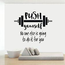 Gym Motivational Words Wall Decal Fitness Sport Vinyl Wall Sticker Home Decor