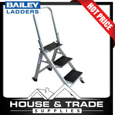 Bailey Stairwell Ladder 3 Step 67cm Aluminium With Folding Hand Rail FS13751