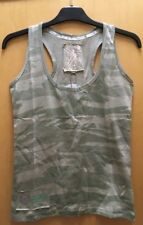 Urban Edition Camo Racer Back Vest Green Camouflage Summer Cotton Tee Sizes 8-16