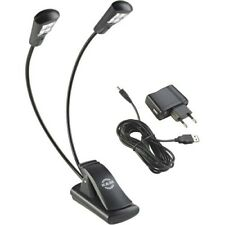K&M 12245 Notenpultleuchte Double4 LED FlexLight inkl. Netzteil | Neu
