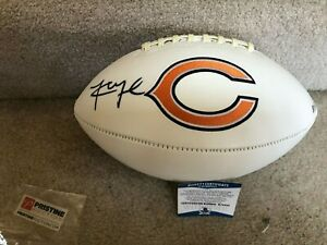 Chicago Bears Khalil Mack Signed Logo Football Autographed - Beckett  COA