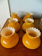 2 x Attractive Vintage/Retro Light Lamp Ceiling Fitting Oil Lamp Shade Yellow