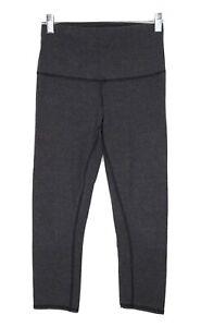 Lululemon Womens Dark Grey Crop Yoga Athletic Workout Pant, Size: 6