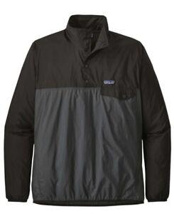 Patagonia 24150 Houdini Snap-T Pullover Rain Nylon Jacket Lightweight Forge Grey