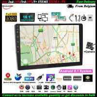 10.1''2 Din Android GPS Autoradio+CAM Tactile BT Wifi FM Airplay iOS Lien Miroir