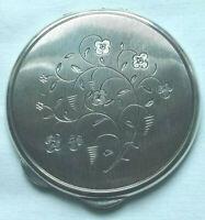 PUDERDOSE SILBER geprüft vor 1945 mit Spiegel ca. 62 Gramm rund ca. 7 cm