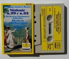 Musicassetta Mozart Sinfonie 29 33 Berlino KARAJAN Mc Musik Cassette Tape No CD