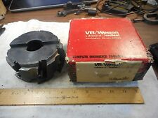 "5"" VR/WESSON indexable Milling Head FHR6=0505-7 7 INSERTS INCLUDED USED EX"
