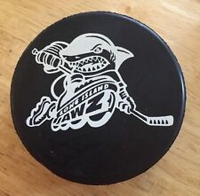 1996 Long Island JAWZ Logo Vintage Hockey Puck Very Rare With Free Shipping