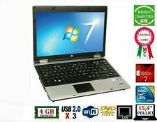 COMPUTER PORTATILE HP 6730B CPU INTEL DUAL CORE 8200P 4GB RAM WIFI WINDOWS 7 PRO