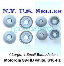 4S + 4L Gray Motorola S9-HD S10-HD Replacement earbuds - Motorokr eargels eartip