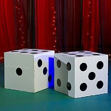 GIANT WHITE DICE  *  las vegas * casino * party decorations