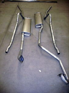 1949-1950 FORD HARDTOP 8 CYLINDER DUAL EXHAUST, ALUMINIZED (DUAL CONVERSION)