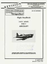 VOUGHT F4U-7 CORSAIR - FLIGHT HANDBOOK AN 01-45HDB-1 / 1954