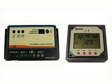 Dual Battery Solar Charge Controller 10A - 12V/24V With Remote Meter