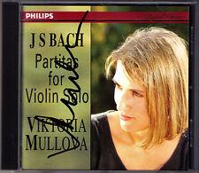 Viktoria MULLOVA Signiert BACH Partita 1-3 for Solo Violin CD BWV 1002 1006 1008