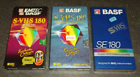 S-VHS BASF SE-180 Video Kassette SEALED NEU & OVP TOP