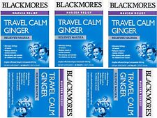 5 x 45 tablets BLACKMORES TRAVEL CALM GINGER for nausea travel & sea sick tabs