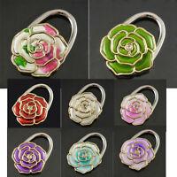 Folding Handbag Purse Bag Hanger Durable Table Hook Hang Holder Flower Shape