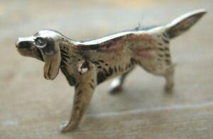Fabulous Hallmarked Sterling Silver Miniature Study of GSP - Pointer Dog Gundog