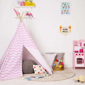 Large Kids Teepee Tent Indoor Outdoor Wigwam Girls Boys Childrens boppi - Pink