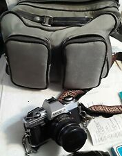 Minolta X-370s Bundle With Case Two Lens Flash Extras lens tissues set up ring