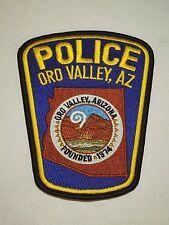 Police Oro Valley Arizona AZ Shoulder Iron On Patch