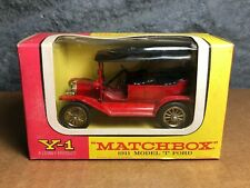 Vintage Matchbox | Y-1 | Models of Yesteryear | 1911 Model T Ford | Original Box