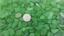 "Sea Glass - 50 mini pieces of ""Craft Quality"" Emerald Green"